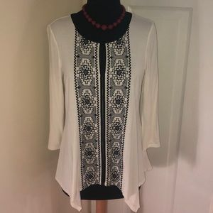 Adrianna Papell Blouse Small